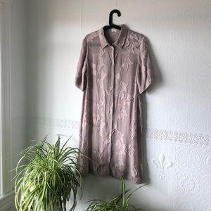 Aritzia Button Front Appliqué Dress - Medium